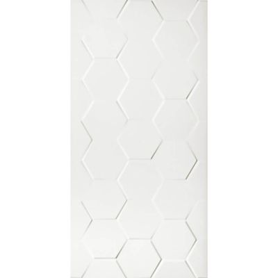 Glazura Wall White Shiny Hexagone 60x30x9,5 cm