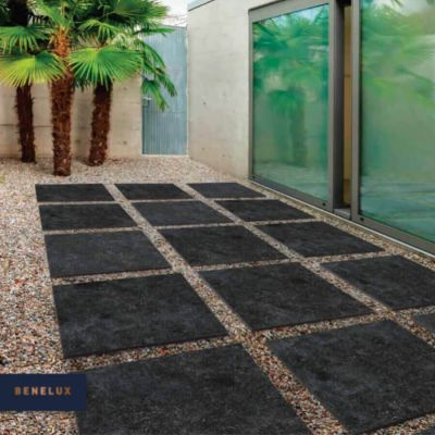 Gres 30MM Benelux Black 60x60x3 cm