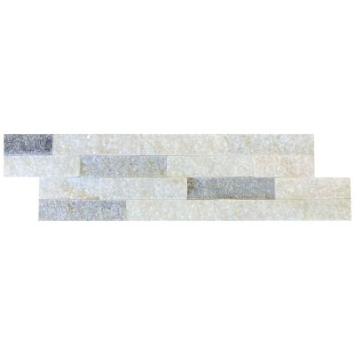 Panel ścienny Marmur Stackstone Cloudy Grey 10x36x0,8-1,3 cm