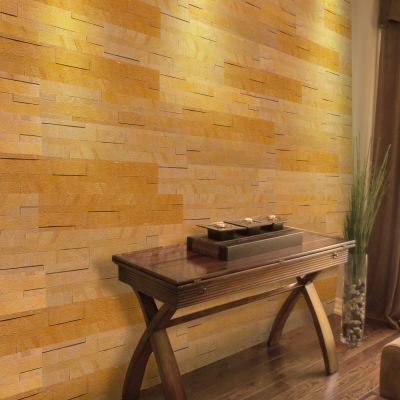 Panel ścienny Quick Stone 3D Teak Wood 60x15x0,2-0,4 cm